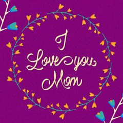 Happy Mothers Day Celebration I Love You Mom Magic Photo Cubes
