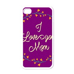 Happy Mothers Day Celebration I Love You Mom Apple iPhone 4 Case (White)