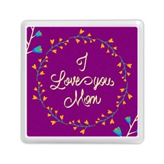 Happy Mothers Day Celebration I Love You Mom Memory Card Reader (Square)