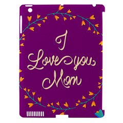 Happy Mothers Day Celebration I Love You Mom Apple Ipad 3/4 Hardshell Case (compatible With Smart Cover)