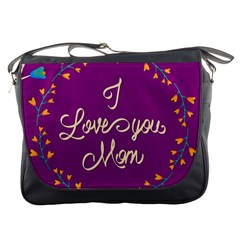 Happy Mothers Day Celebration I Love You Mom Messenger Bags