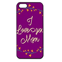 Happy Mothers Day Celebration I Love You Mom Apple iPhone 5 Seamless Case (Black)