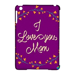Happy Mothers Day Celebration I Love You Mom Apple iPad Mini Hardshell Case (Compatible with Smart Cover)