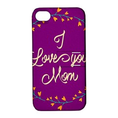 Happy Mothers Day Celebration I Love You Mom Apple iPhone 4/4S Hardshell Case with Stand