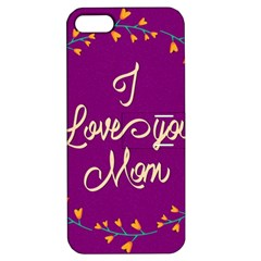 Happy Mothers Day Celebration I Love You Mom Apple iPhone 5 Hardshell Case with Stand
