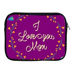 Happy Mothers Day Celebration I Love You Mom Apple Ipad 2/3/4 Zipper Cases
