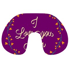 Happy Mothers Day Celebration I Love You Mom Travel Neck Pillows