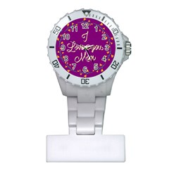 Happy Mothers Day Celebration I Love You Mom Plastic Nurses Watch