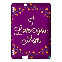 Happy Mothers Day Celebration I Love You Mom Kindle Fire Hdx Hardshell Case