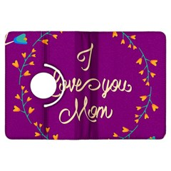 Happy Mothers Day Celebration I Love You Mom Kindle Fire HDX Flip 360 Case