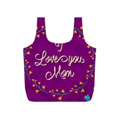 Happy Mothers Day Celebration I Love You Mom Full Print Recycle Bags (S)
