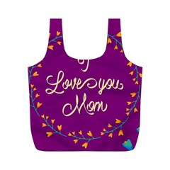 Happy Mothers Day Celebration I Love You Mom Full Print Recycle Bags (M)