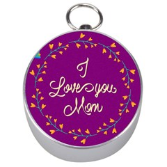 Happy Mothers Day Celebration I Love You Mom Silver Compasses