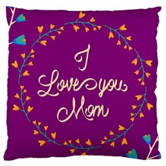 Happy Mothers Day Celebration I Love You Mom Standard Flano Cushion Case (one Side)