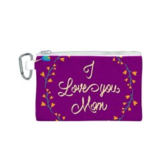 Happy Mothers Day Celebration I Love You Mom Canvas Cosmetic Bag (s)