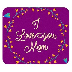 Happy Mothers Day Celebration I Love You Mom Double Sided Flano Blanket (Small)