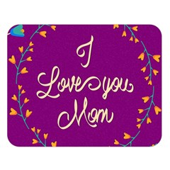 Happy Mothers Day Celebration I Love You Mom Double Sided Flano Blanket (large)