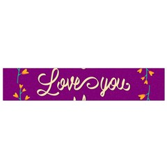 Happy Mothers Day Celebration I Love You Mom Flano Scarf (small)