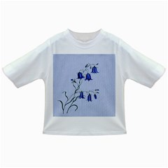 Floral Blue Bluebell Flowers Watercolor Painting Infant/Toddler T-Shirts