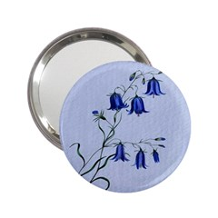 Floral Blue Bluebell Flowers Watercolor Painting 2.25  Handbag Mirrors