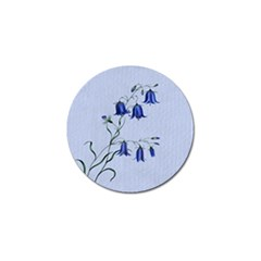 Floral Blue Bluebell Flowers Watercolor Painting Golf Ball Marker (4 Pack)