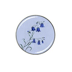 Floral Blue Bluebell Flowers Watercolor Painting Hat Clip Ball Marker (4 pack)