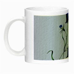 Floral Blue Bluebell Flowers Watercolor Painting Night Luminous Mugs