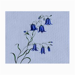 Floral Blue Bluebell Flowers Watercolor Painting Small Glasses Cloth (2-Side)