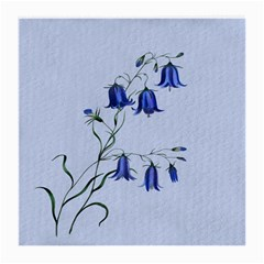 Floral Blue Bluebell Flowers Watercolor Painting Medium Glasses Cloth