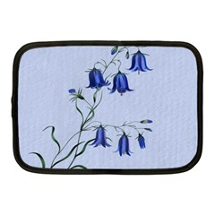 Floral Blue Bluebell Flowers Watercolor Painting Netbook Case (medium)