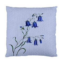 Floral Blue Bluebell Flowers Watercolor Painting Standard Cushion Case (One Side)