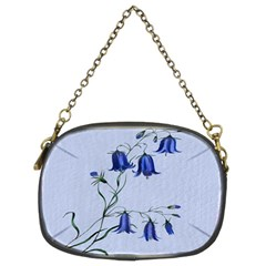 Floral Blue Bluebell Flowers Watercolor Painting Chain Purses (Two Sides)