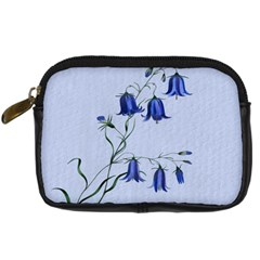 Floral Blue Bluebell Flowers Watercolor Painting Digital Camera Cases