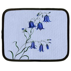 Floral Blue Bluebell Flowers Watercolor Painting Netbook Case (XXL)