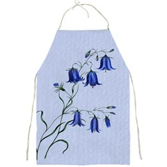 Floral Blue Bluebell Flowers Watercolor Painting Full Print Aprons