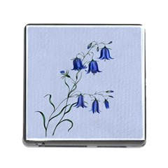 Floral Blue Bluebell Flowers Watercolor Painting Memory Card Reader (Square)