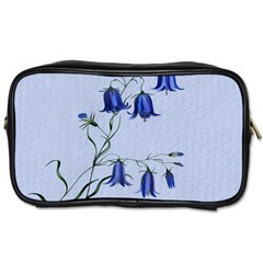 Floral Blue Bluebell Flowers Watercolor Painting Toiletries Bags