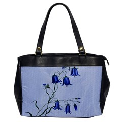 Floral Blue Bluebell Flowers Watercolor Painting Office Handbags