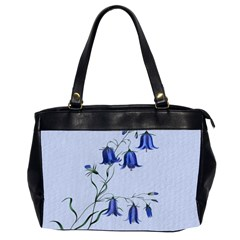 Floral Blue Bluebell Flowers Watercolor Painting Office Handbags (2 Sides)