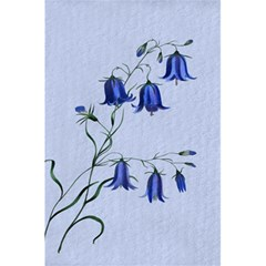 Floral Blue Bluebell Flowers Watercolor Painting 5.5  x 8.5  Notebooks