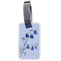 Floral Blue Bluebell Flowers Watercolor Painting Luggage Tags (one Side)