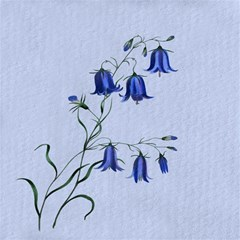 Floral Blue Bluebell Flowers Watercolor Painting Magic Photo Cubes