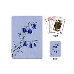 Floral Blue Bluebell Flowers Watercolor Painting Playing Cards (Mini)