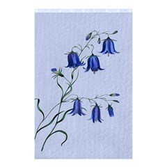 Floral Blue Bluebell Flowers Watercolor Painting Shower Curtain 48  x 72  (Small)