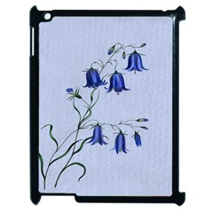 Floral Blue Bluebell Flowers Watercolor Painting Apple iPad 2 Case (Black)