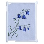 Floral Blue Bluebell Flowers Watercolor Painting Apple iPad 2 Case (White) Front