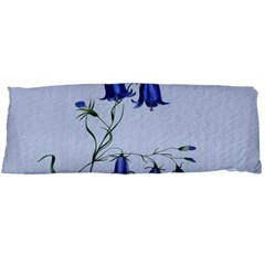 Floral Blue Bluebell Flowers Watercolor Painting Body Pillow Case Dakimakura (Two Sides)