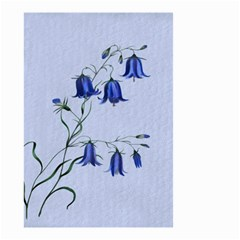 Floral Blue Bluebell Flowers Watercolor Painting Small Garden Flag (two Sides)