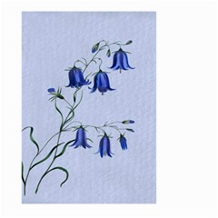 Floral Blue Bluebell Flowers Watercolor Painting Large Garden Flag (two Sides)
