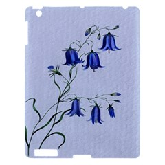Floral Blue Bluebell Flowers Watercolor Painting Apple Ipad 3/4 Hardshell Case